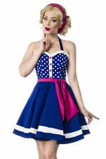 Vêtements rétro vintage robe licou polka dot robe femme bleu rose uy 50030