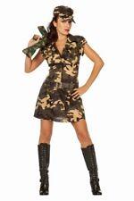 FFF Damen Kostüm Armee Soldatin Camouflage Karneval Fasching