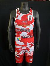 FOOTEX Completo Canotta e Pantaloncino Beach Volley Camouflage Rosso/Grigio