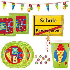 Schulanfang Einschulung Kinder Party Mega Auswahl Teller Becher