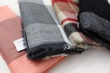 Women Plaid Triangle Blanket Plaid Scarf Checked Wrap Shawl