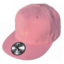 Einfarbig Rosa Flachspitzen Baseballmütze