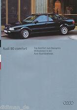 Audi 80 Comfort Prospekt 6/94 car brochure Broschüre Auto PKWs Autoprospekt 1994