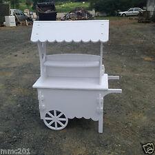 Candy Carts White Wedding Cart Sweet Cart Christening Cart Ideal for celebration
