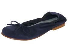 Clic! 4278 Ballerinas m. Schleife Leder Kinder Schuhe blau schmal Gr.33 - 40 Neu