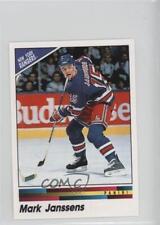 1990 Panini Album Stickers 101 Mark Janssens New York Rangers Rookie Hockey Card