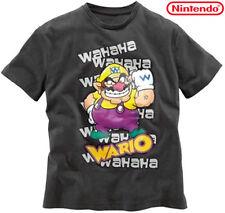 Nuevo ORIG. Nintendo licencia mercancía! t-shirt Super Mario 'Wario' s m antracita * 152642