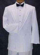 OSCAR DE LARENTA WHITE TUX JACKET or 4pc MENS or BOYS PEAK TUXEDO PROM WEDDING