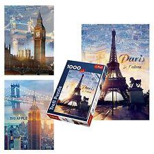 Trefl 1000 Pièces Adulte Grand Londres Paris New York Sights Puzzle De Sol
