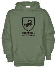 Felpa Rhodesian Army J601 Rhodesia Forze Speciali Hoodie Fregio Esercito