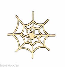 Spider Web Unfinished Wood Shape Cut Out SW1443 Laser Crafts Lindahl Woodcrafts