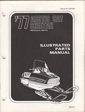 1977 ARCTIC CAT SNOWMOBILE CHEETAH PARTS MANUAL