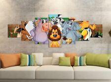 Leinwandbilder 7 Tlg 280x100cm Zoo Tiere Leinwand Bild Teile teilig 9YB1556