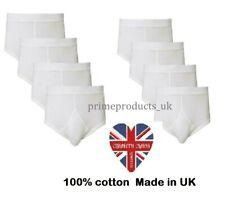 Boy's Y Front 100% Cotton White Briefs Underwear In All Size (Made in UK)
