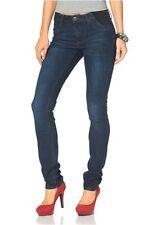 Arizona Jeans Röhre Gr.48,50,52 NEU Damen Hose Stretch Denim Dark Blau Used L32