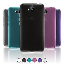 Coque en Silicone Huawei Enjoy 5 - transparent  + films de protection