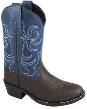 Smoky Mountain Toddler Boys Monterey Brown/Navy ManMade Cowboy Boots