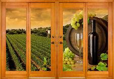 Window stickers illusion decoration wine grapes ref 2562 (10) Dimensions