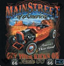 T-Shirt #430 MAINSTREET OF AMERICA, HOT ROD, Dragster, Biker, Dragster, Oldtimer