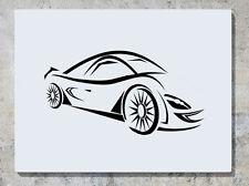 coche moderno RÁPIDO Sport automóvil adhesivo adhesivo pared imagen
