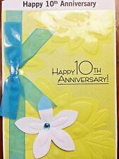 HALLMARK 10TH WEDDING  ANNIVERSARY CARD 10 YEARS for FRIENDS FAMILY  Choice 10