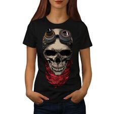Pilot Fly Dead Skull Women T-shirt S-2XL NEW | Wellcoda