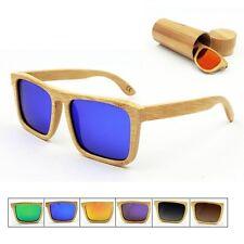 Handmade Polarized Unisex Bamboo Sunglasses Wooden Eyewear Glasses Wood Case Box