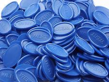 Wertmarken Pfandmarken Getränkemarken oval - Farbe: blau | Mengen wählbar