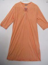 """HAJO """"KLIMA KOMFORT"""" Nachthemd / Schlafshirt, 3/4-Arm, Orange,  NEU"""