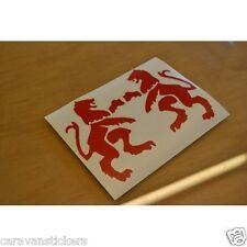 ELDDIS Classic Lion - (FLAT VINYL) - Caravan Stickers Decals Graphics - PAIR