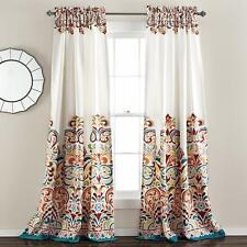 Clara Curtains Paisley Damask Bohemian Style Room Darkening Window Set of 2