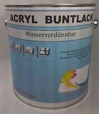(9,99€/L.) Acryl-Buntlack Wasserverdünnbar  Seidenglanz RAL Farbtonkarte 2,5 L.