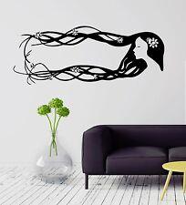 Wall Decal Beauty Salon Barber Beautiful Woman Long Hair Vinyl Decal (ig561)