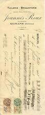 JOANNES ROUX tuilerie briqueterie ROMANS 1928