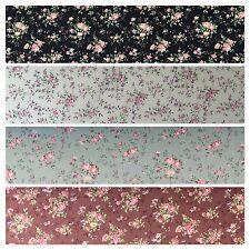 "Floral Vintage shabby chic rose 100% Cotton Poplin Craft Fabric 58"" M684"
