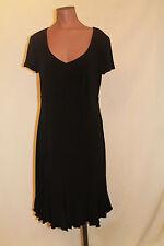 NWT Raindance Maternity Stretch Knit Black Short Sleeve Dress Med Lg