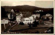 Marienbad Mariánské Lázně alte AK ~1930/40 Partie am Café Bellevue Echtfoto-AK