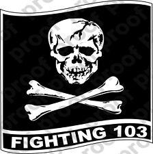 STICKER USN VF 103 FIGHTER SQUADRON JOLLY ROGER