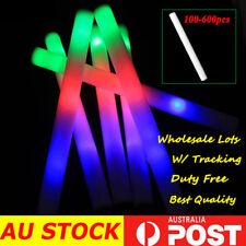 200 500 Light Up DJ Flashing Glow Foam Sticks Wedding Party LED Wand Batons AU