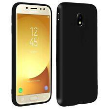 Cover NERO OPACO MORBIDA per Samsung Galaxy J5 2017 Slim TPU + VETRO TEMPERATO