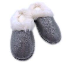 Women's Comfy Fuzzy Fur Slippers Lined Memory Foam Slip Indoor Anti-Slip US5-8