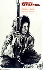 Political Cuban poster.SAHARA.Africa.Art history.me13.Socialism.World History