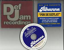 RIHANNA Pon De Replay INSTRUMENTAL&EDIT PROMO CD Single