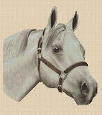 Cross Stitch Chart - Grey Horse - No.192..free uk P&p....TSG37--