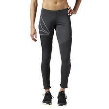 WOMEN'S Reebok one series Inverno Collant Pantaloni Riflettente Traspirante Caldo Corsa