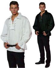 Mittelalter Hemd Rüschenhemd Piratenhemd Baumwolle schwarz weiß Gr. M L XL XXL