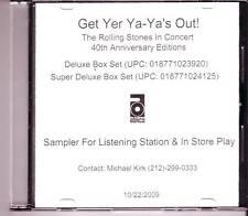 "Rolling stones ""Get yer ya ya 's Out"" 40th Anniversary Ed promo CD"