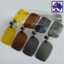 Clip on Flip up Sunglasses UV400 Night Vision Yellow Polarized Glasses JGLAS07