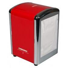 Retro 1950's American Diner Style Napkin/Serviette Tissue Dispenser Holder Red