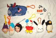 Plush Toy Lot Keychain MCDONALDS BURGERKING Disney Eeyore Snow White Hello Kitty